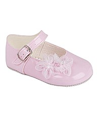 Early Days Pink Patent Pram Shoes