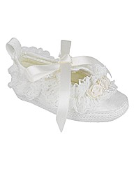 Early Days Ivory Christening Shoes