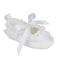 Early Days White Christening Shoes
