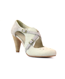 J Shoes Grey Scalloped Court Shoes