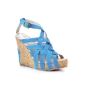 J Shoes Blue Wedge Sandals
