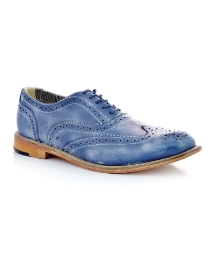 J Shoes Blue Charlie Brogues