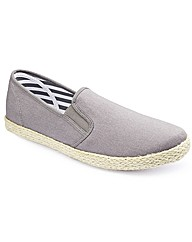 Label J Espadrille Slip Ons XWide Fit