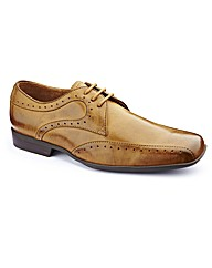 Jacamo Punch Detail Shoes Extra Wide Fit