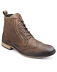 Jacamo Brogue Boots Wide Fit