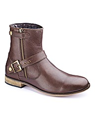 Jacamo Buckle & Zip Detail Wide Fit Boot