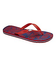 DC Shoes Graffic Print Flip Flop