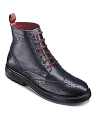 Label J Cleated Sole Brogue Boots