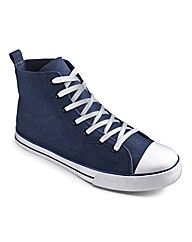 Jacamo Hi-Top Trainers Extra Wide Fit