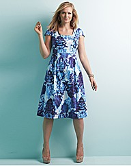 edit Demure Printed Dress