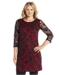 Lace Floral Tunic Dress