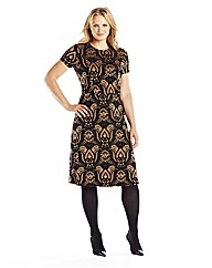 Ornate Jacquard Dress
