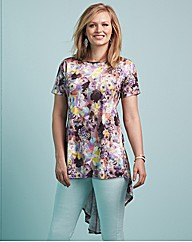 edit Printed Trapeze Top