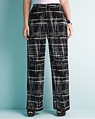 edit Printed Wide Leg Trouser 31in Leg