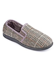 Dunlop Warm Lined Check Slippers S