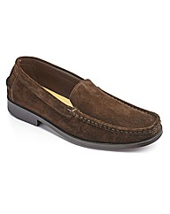 &Brand Suede Slip On Shoe Wide Fit