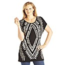 edit Tribal Print Top