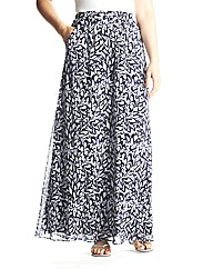 edit Printed Chiffon Maxi Skirt