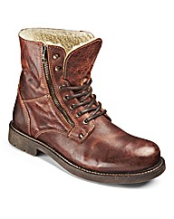 Hamnett Gold Warm Lined Lace Up Boots