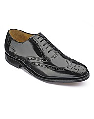 Barker Hi Shine Brogue Lace Up Shoes