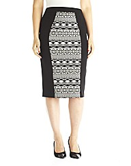edit Jacquard Pencil Skirt