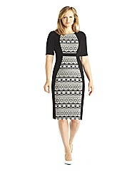 edit Aztec Jacquard Dress