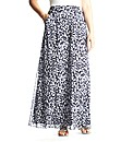 edit Petite Printed Chiffon Maxi Skirt