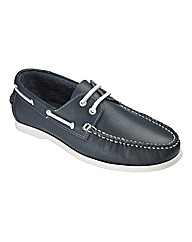& Brand Lace Boat Shoes