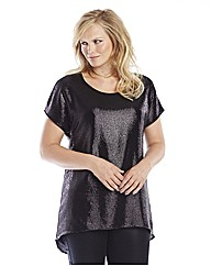 Edit Sequin Dipped Back Top