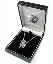 Gents Stainless Steel Football Pendant