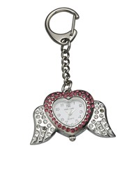 Ladies Angel Wings Keyring Clock
