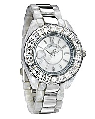 Morgan Glitzy Plastic Bracelet Watch