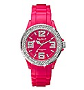Ladies Glitzy Dial Colour Watch