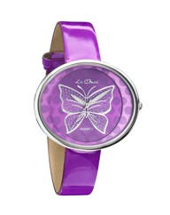 Butterfly Oval Dial Strap Watch