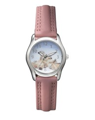 Pink Strap Animal Watch