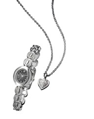 Ladies Diamond-Set Watch & Pendant