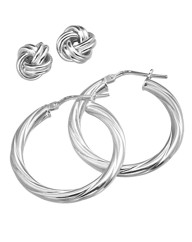 Sterling Silver Earrings Set