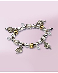 Angels & Star Charm Stretch Bracelet