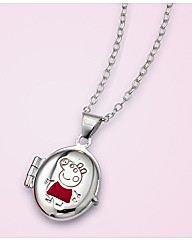 Sterling Silver Peppa Pig Locket