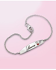 Sterling Silver Peppa Pig Bracelet