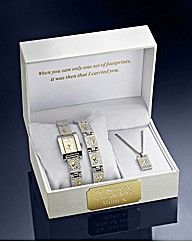 Ladies Personalised Two-tone Watch Set