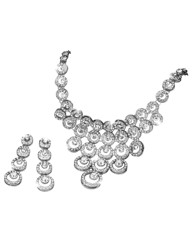 Glitzy Circle Necklace & Earrings Set
