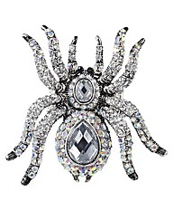 Glitzy Adjustable Spider Ring