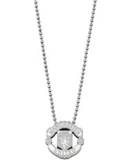 Stainless Steel Crest Football Pendant