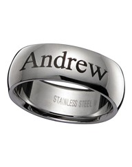 Stainless Steel Personalised Band Ring