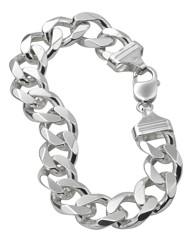 Gents Sterling Silver 2oz Bracelet