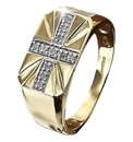 9 Carat Gold Diamond Set Ring