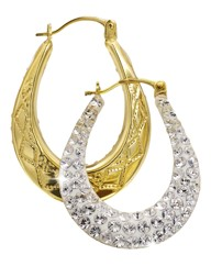 Evoke 9 Carat Gold Small Creole Earrings