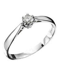 18 Carat Gold Diamond Solitaire Ring
