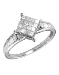 18 Carat White Gold 1/2 Ct Diamond Ring
